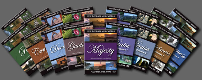 Get 18 (a double set) GloryScapes DVD Videos!